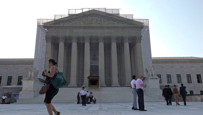 The Supreme Court is seen on the final day of its term on June 26.