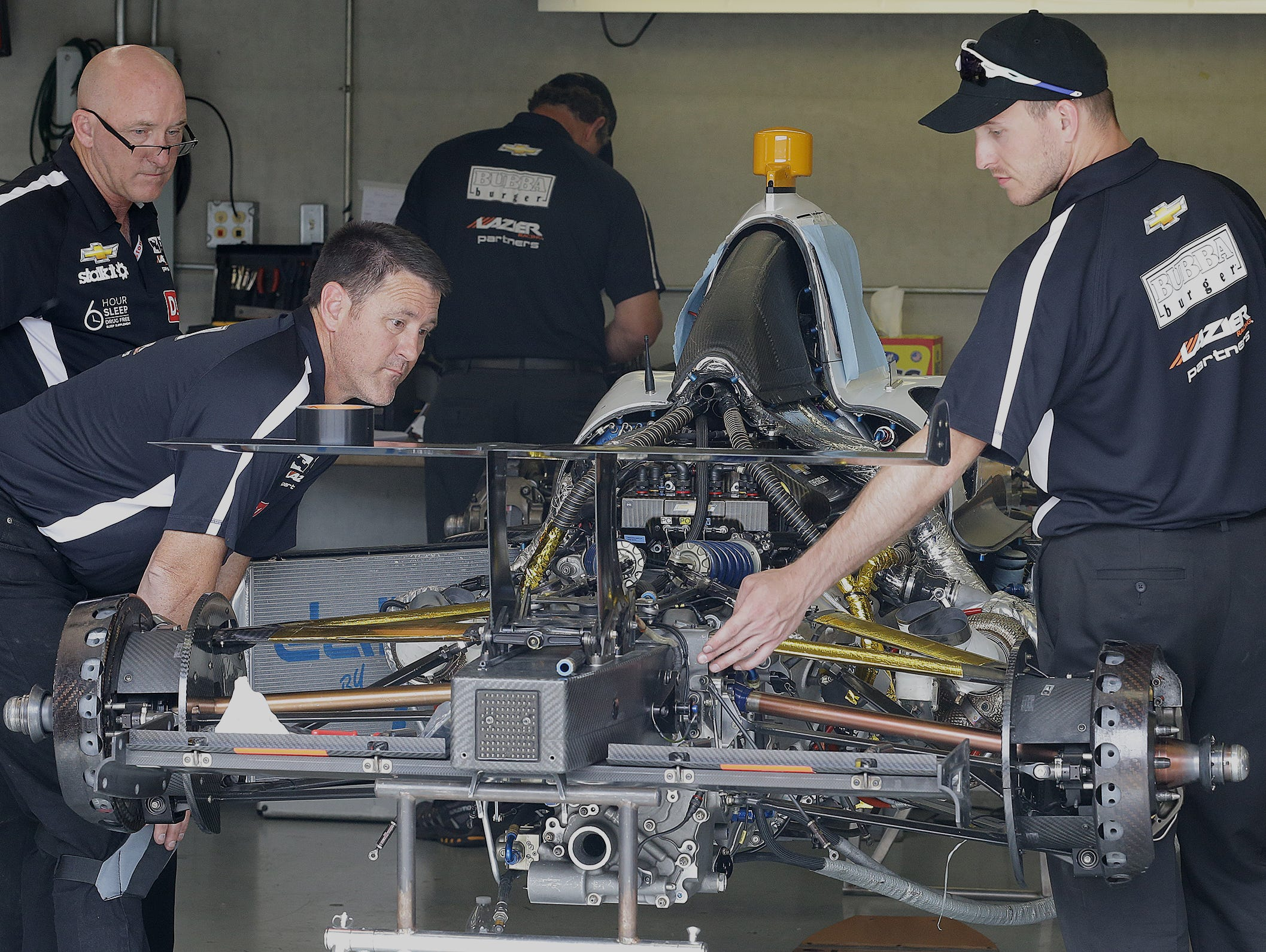 Buddy Lazier operates on a shoestring and a prayer. His car arrived at Indianapolis Motor Speedway missing a few parts. It wasn't ready for practice runs until the day before qualifying.