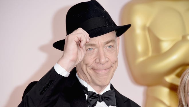 Actor J.K. Simmons before winning his Best Supporting Actor award the 87th Annual Academy Awards.