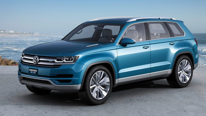 CrossBlue concept car is inspiration for new seven-passenger, midsize crossover SUV VW says it will build in Chattanooga.