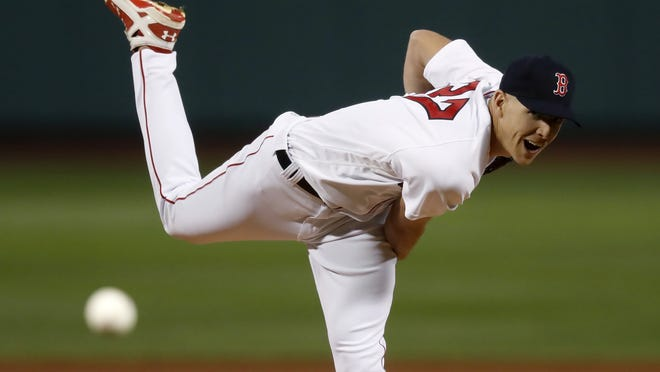 Red Sox pitcher Nick Pivetta fires a pitch during the first inning of Boston's 8-3 victory over the Baltimore Orioles Tuesday night at Fenway Park.