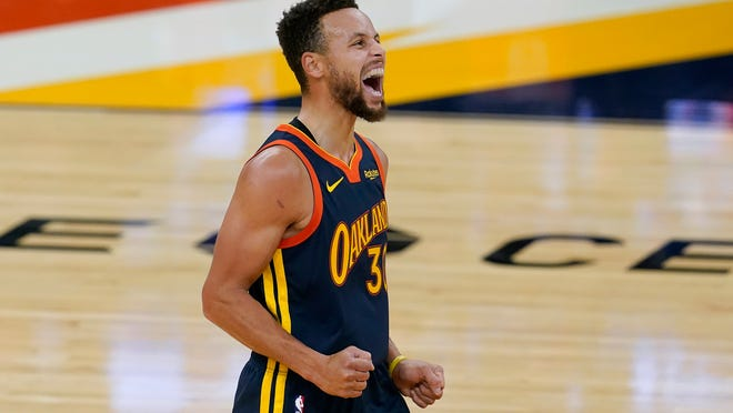"Stephen Curry has helped the Warriors remain in the chase for a playoff spot and says of his season, ""The game speaks for itself."""