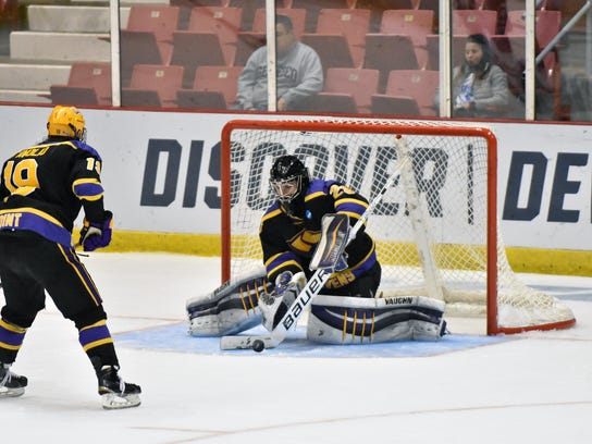 University of Wisconsin-Stevens Point senior goalie Max Milosek was in net when the Pointers brought home the school's fifth Division III national championship in 2016.
