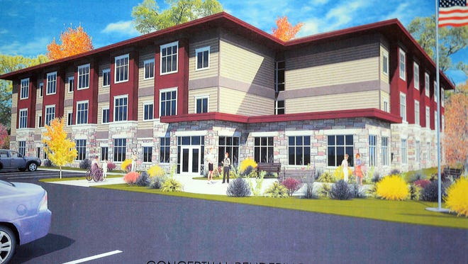 Rendering of the prioposed veterans housing complex on St. Anthony Drive in Green Bay.