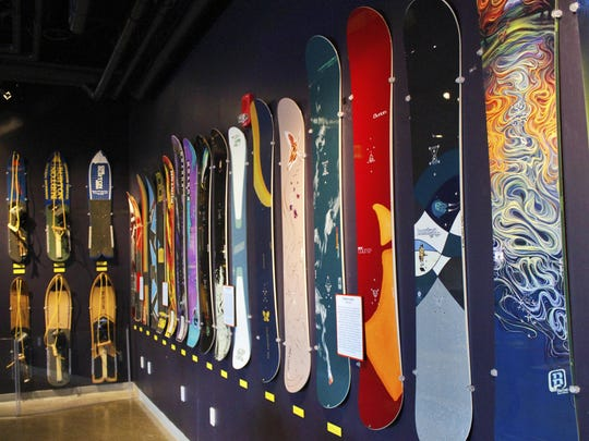 Burton Snowboards spanning the history of their development