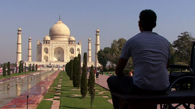"""Director Jason DaSilva during his trip to India. """"When I Walk""""  will be shown on PBS."""