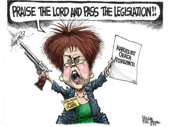 Steven Benson cartoon for March 29, 2015