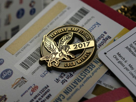 There are more than 10,000 gold Kentucky Derby Festival