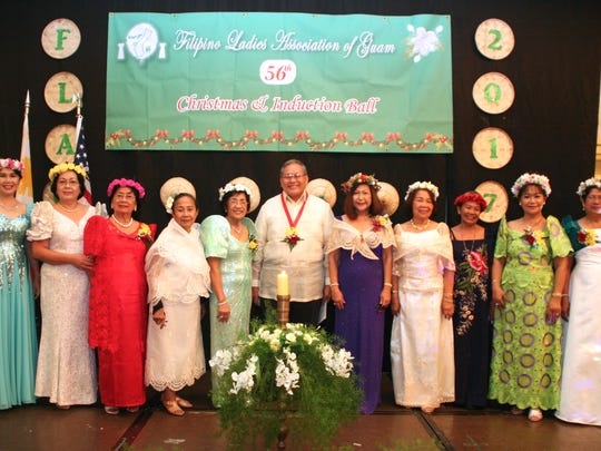 The Filipino Ladies Association of Guam's Board of Trustees was sworn into office on Jan. 6, 2017.