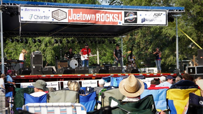 Attendees of the Joetown Rocks concert watch the first band of the night in 2012.