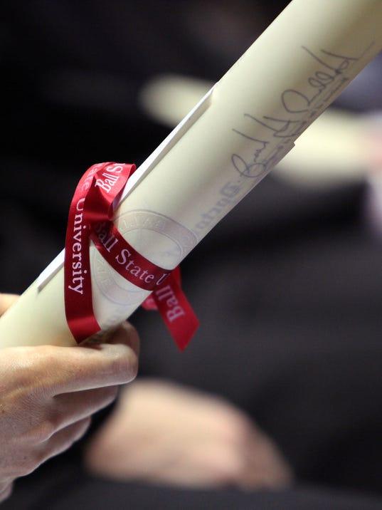 BSU graduation diploma