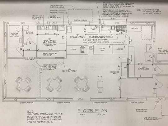 Architectural drawings for the new Kabob House Mediterranean