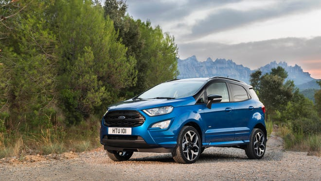 Ford will reveal an updated version of its EcoSport subcompact SUV that should be nearly identical to the model due for U.S. sale in 2019.