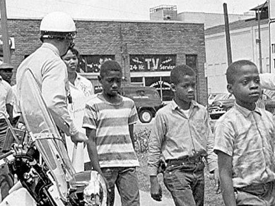 Freeman Hrabowski was 12 years old when he joined more than a thousand children marching for civil rights in Birmingham, Ala., in May 1963. He spent five days and nights in jail as a result of the protest; he is now the president of the University of Maryland Baltimore County. Photo courtesy Associated Press.