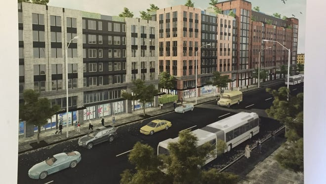 A rendering of the proposed The Pointe on South Fourth Ave by MVP Realty Associates.