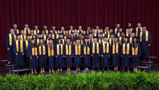 Asheville Christian Academy 2017 graduating class.