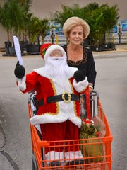Barbara Lordi of Viera was wheeling a cart full of