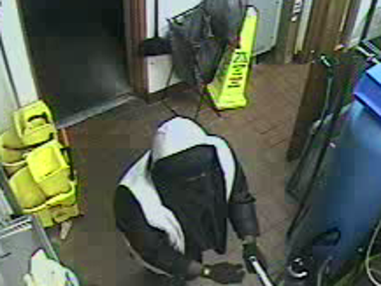 Surveillance video depicts the suspect from Friday