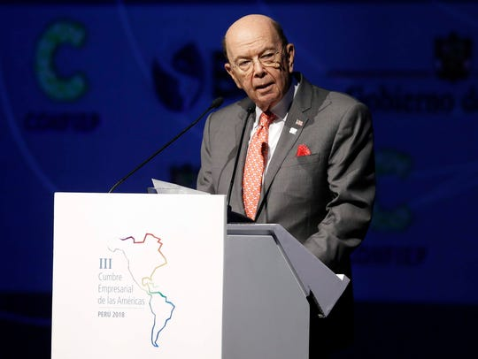 Secretary of Commerce Wilbur Ross, seen here at a different