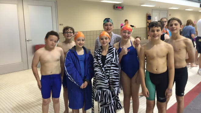 Some younger swimmers from the Pau Hana Swim Club were ready to compete in more events Saturday at Denison University in the Jill Griesse Memorial Invitational.