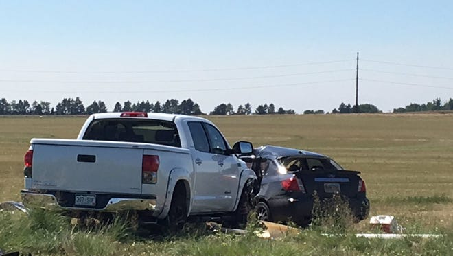 A T-bone crash left several people with serious injuries Saturday morning on Mountain Vista Avenue in northeast Fort Collins.