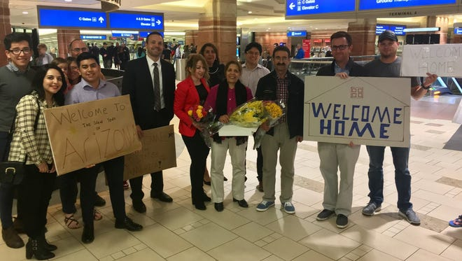 Iranian immigrants were able to join their family in Arizona after a federal judge halted Trump's travel ban.