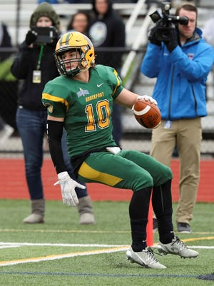 """Safety Jake O'Connell of Spencerport, leads team with six interceptions. """"This group on defense, we're like brothers on and off the field,'' said the former AGR pick. """"I think that contributes to the success we've had.''"""
