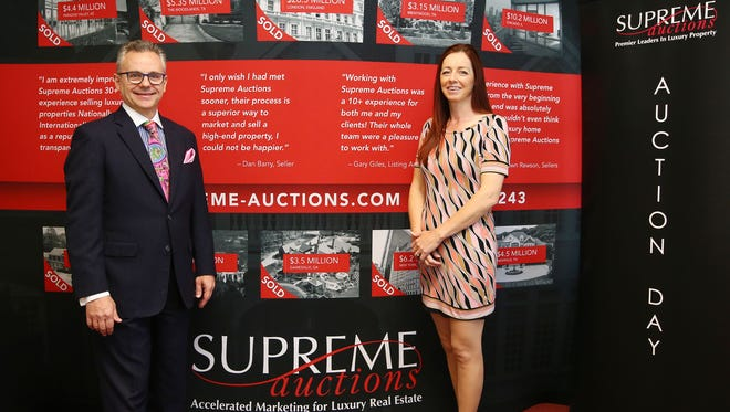 Maverick Commins is CEO and chairman of Supreme Auctions, and Jennie Heal president of the Scottsdale-based auction house.