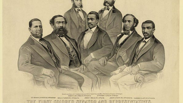 XXX THE FIRST COLORED SENATOR AND REPRESENTATIVES, IN THE 41ST AND 4 A FEA