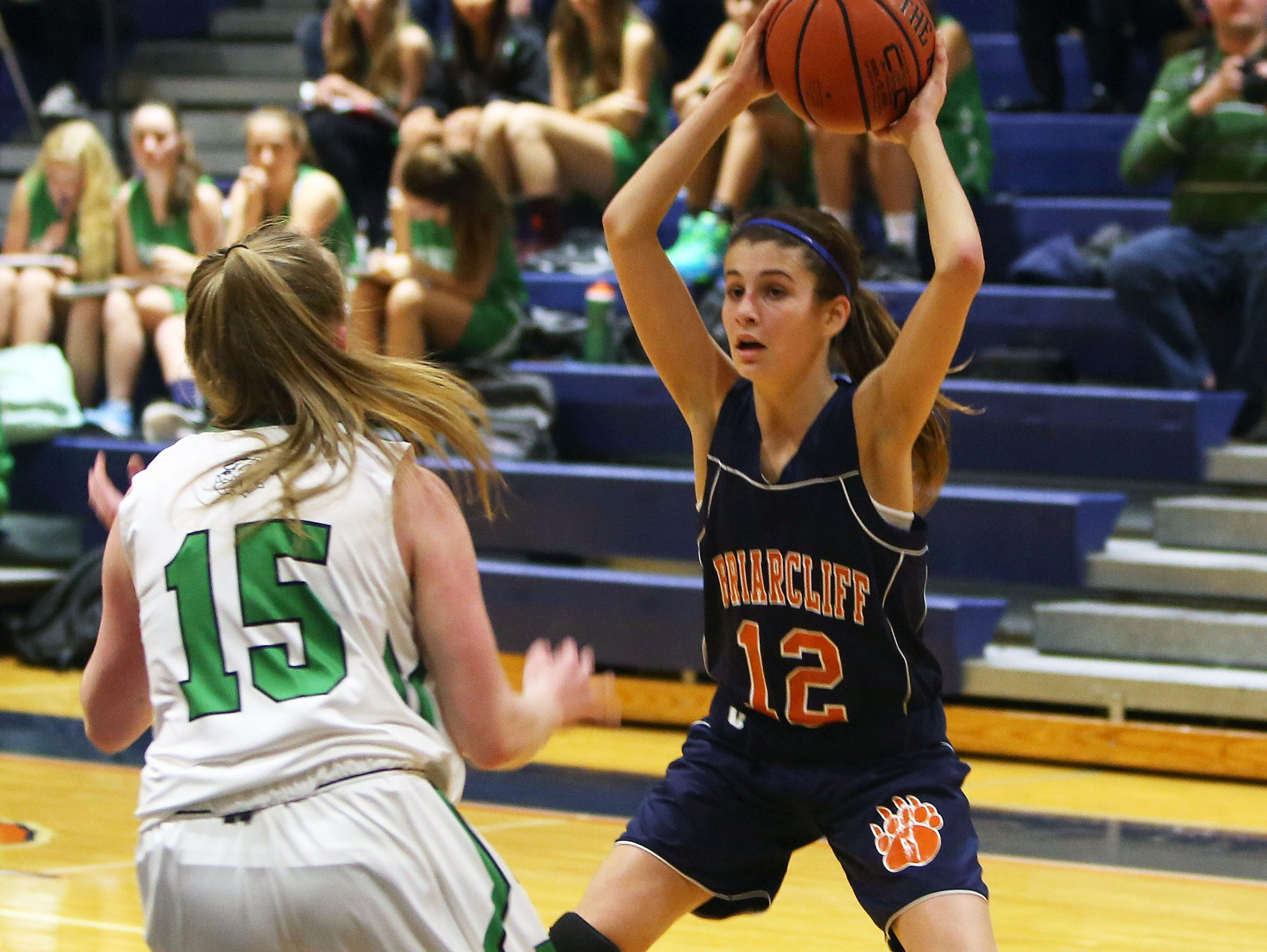 Irvington defeated Briarcliff 71-57 in a girls basketball game at Briarcliff High School Dec. 1, 2015.