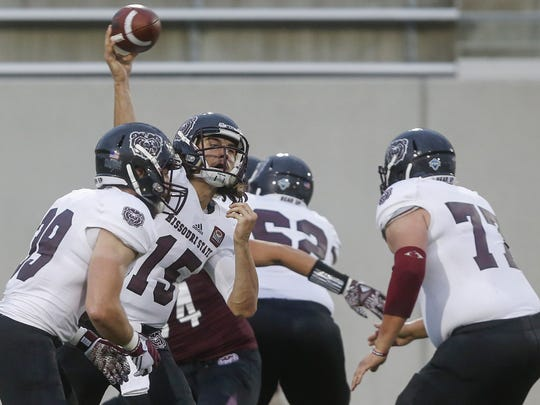 Peyton Huslig was named Missouri State's starting quarterback Aug. 19 by head coach Dave Steckel.