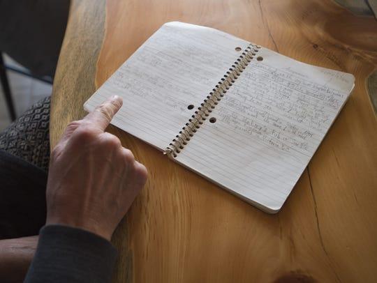 Zia Zybko reads the original notes from Jeff Lebesch's