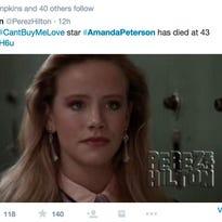 'Can't Buy Me Love' star Amanda Peterson dies at 43