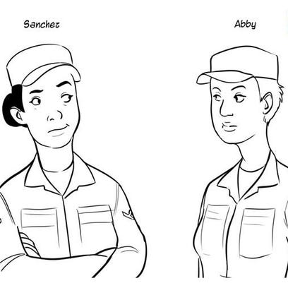 """Sanchez and Abby are characters in the comic strip """"Terminal Airman"""" by Max Uriarte, the creator of the """"Terminal Lance"""" web strip."""