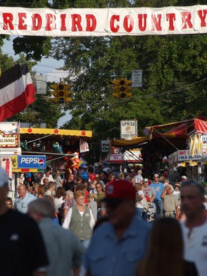 A large crowd gathered  Loudonville Street Fair.