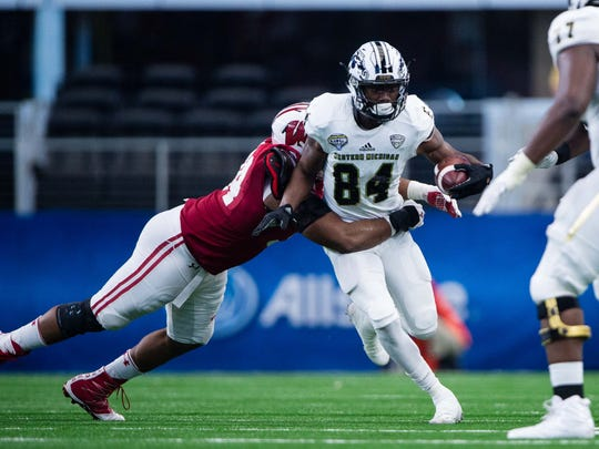 Corey Davis of Western Michigan is the all-time college football leader in receiving yards.