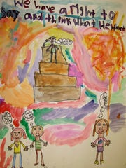Emily Winans, of South Hill Elementary, won first place