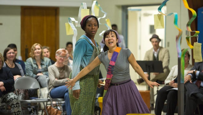"""Danielle Leneé stars as Rosalind and Bi Jean Ngo as Celia in DelShakes community tour of """"As You Like It."""""""