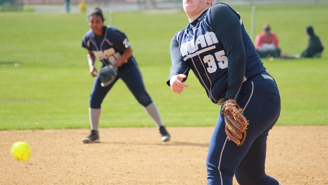Shakyrah Moore (background) and Victoria Galvan (foreground) propelled Manasquan to a 10-6 win over Raritan Wednesday.