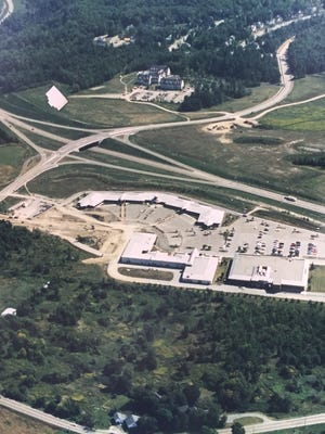 Commercial development underway at Old Stage Road and Vermont 15 is seen in the aerial photograph from the late 1980s.