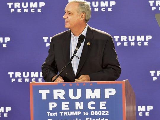 U.S. Rep. Jeff Miller kicks off the Donald Trump rally