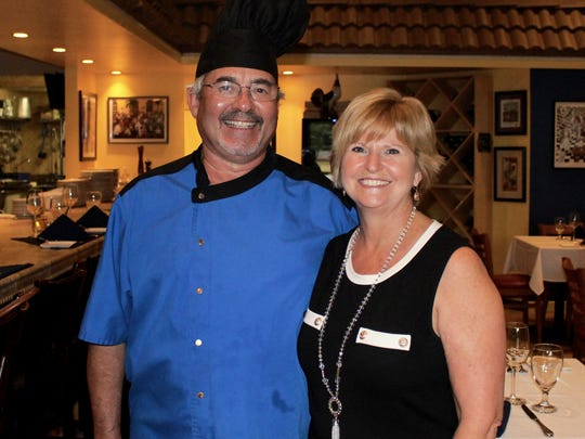 Bleu Rendez-Vous owners Christian and Mari Vivet in their new Sanibel location.