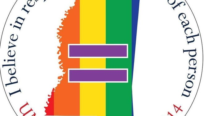 This sticker was produced by UM Pride Network to protest the Mississippi Religious Freedoms Restoration Act during the 2014 commencement ceremony, at which Gov. Phil Bryant is scheduled to speak.