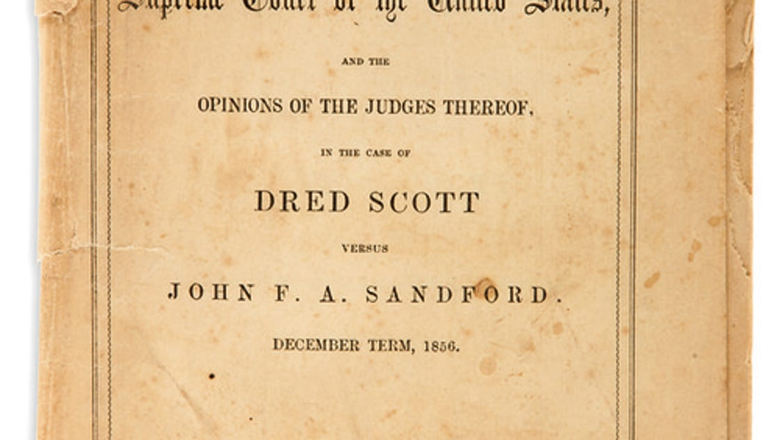 an analysis of the dred scotts decision Dred scott decision interpreted the same founding documents and came to such different conclusions activities: 1 have students read the case background essay  their analysis, allowing other students in the class to fill in their documents summary tables.