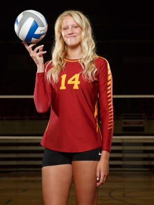 Iowa State's Jess Schaben led her team with 14 kills in a sweep of Northern Iowa.