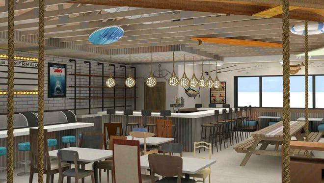 Crab and Mermaid Fish Shop rendering in Scottsdale.