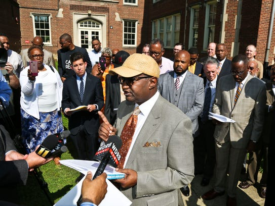 Rev. Clay Calloway spoke for more than a dozen ministers