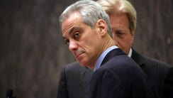 Chicago Mayor Rahm Emanuel, left, with corporation