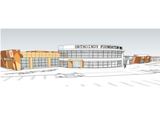 An artist's rendering of the OrthoIndy Foundation YMCA in Pike Township, which will be at 5315 Lafayette Road.