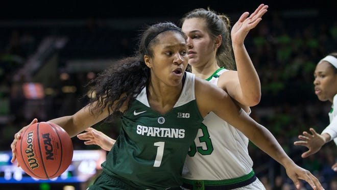 Michigan State freshman Sidney Cooks scored 17 points to lead the Spartans to an easy win over Rhode Island on Saturday.